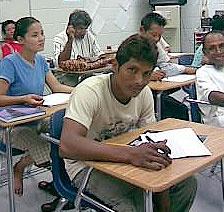refugee at school